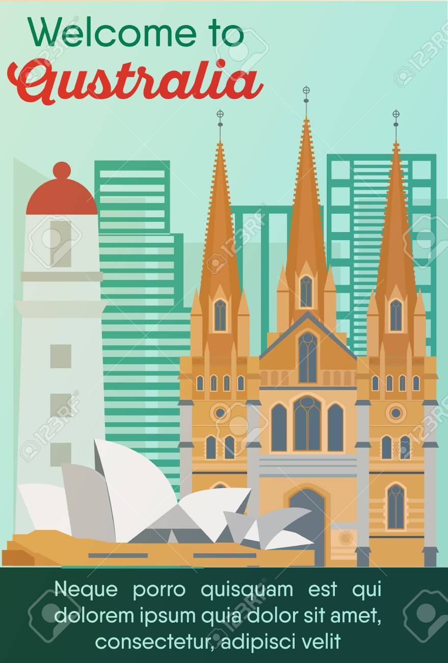 Landmarks Banner In Vector. Travel Destinations Card. Trip To.