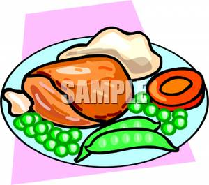 Healthy Plate Of Food Clipart.