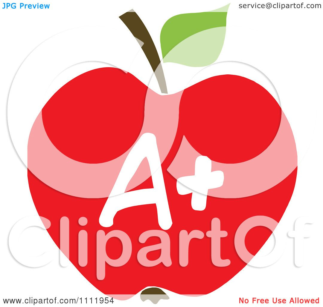Clipart Red A Plus School Apple 1.
