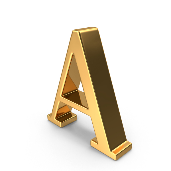 Gold Capital Letter A PNG Images & PSDs for Download.