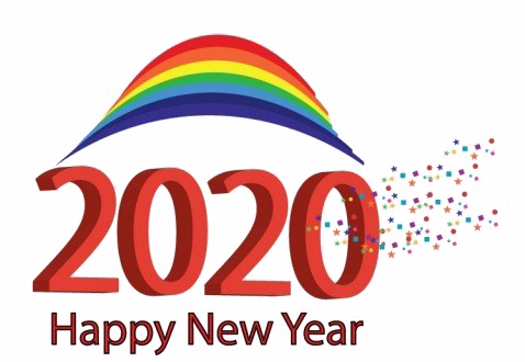 Happy New Year 2020 PNG Image.