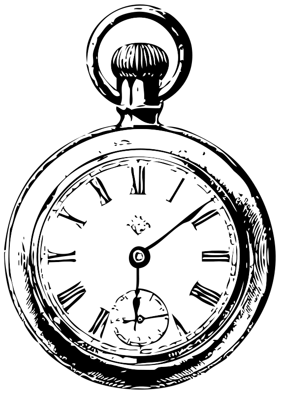 Free Clipart: Pocket watch.