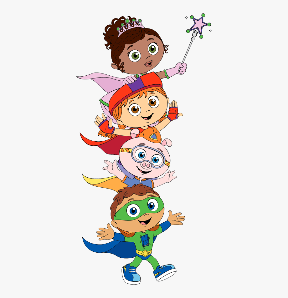 Super Why, Wonder Red, Princess Presto,, Cliparts & Cartoons.