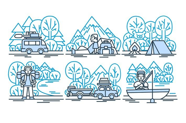 Outdoorsy Clipart by Jumsoft.