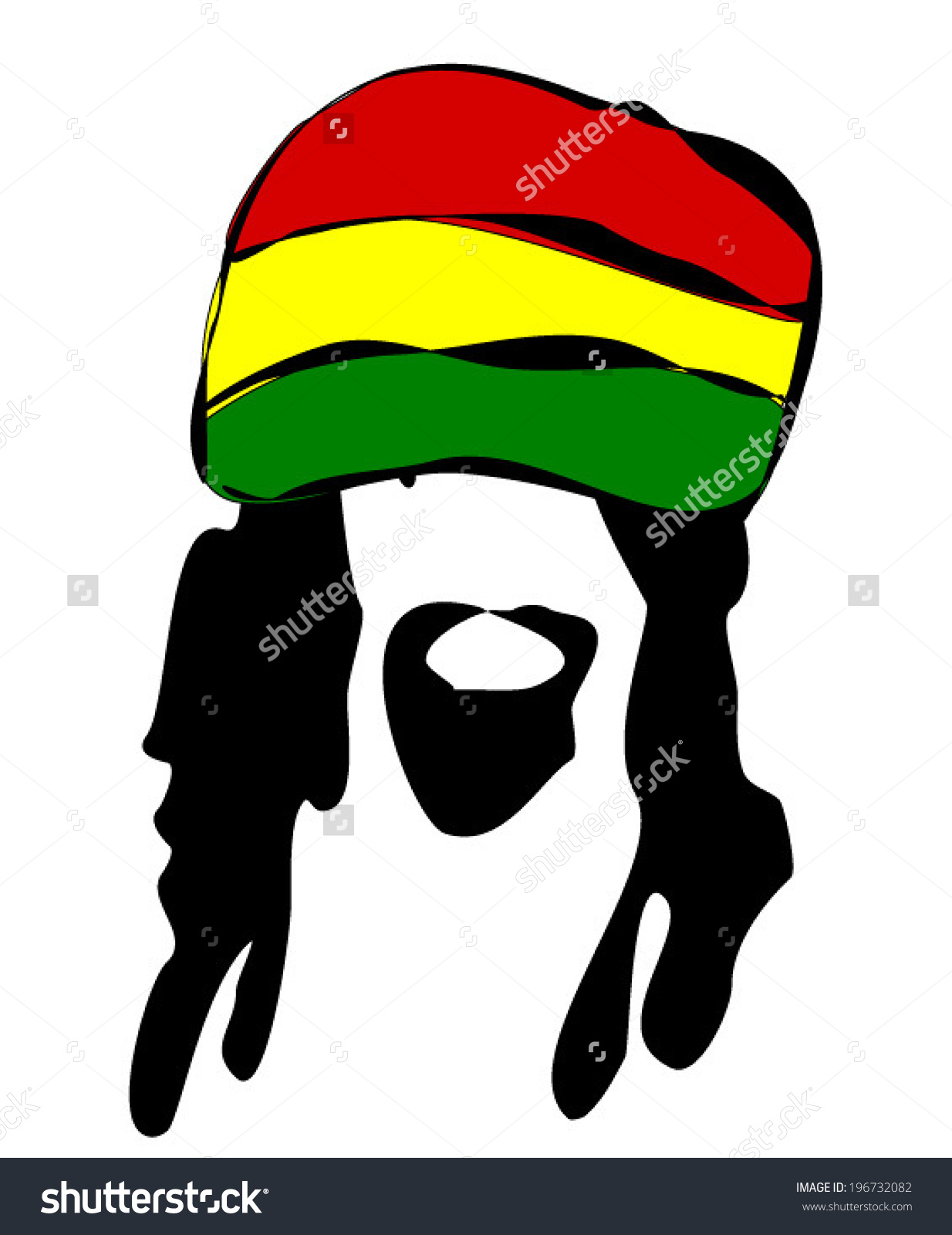 Jamaican dreadlocks clipart.