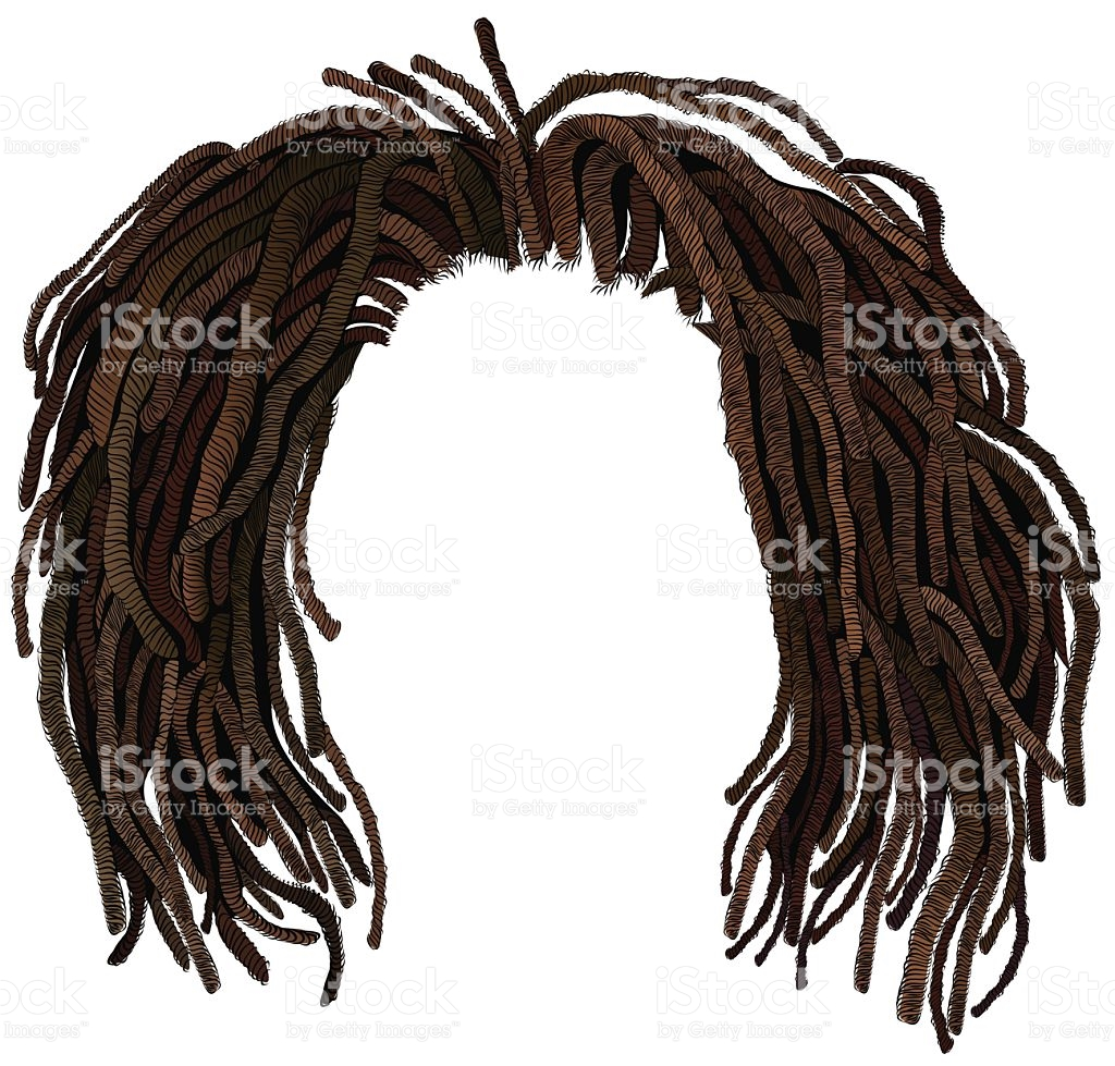 African Hair Dreadlocks Hairstyle stock vector art 531929542.