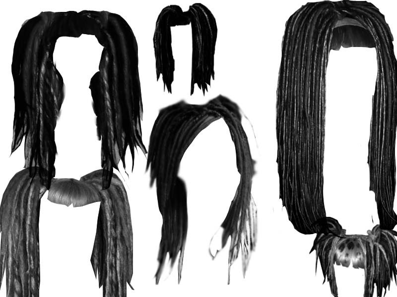 Dreadlock hair style brushes.