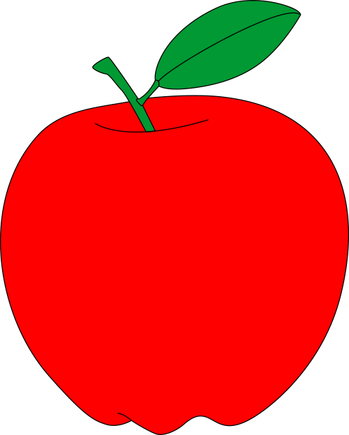 Red apple free vector clipart.