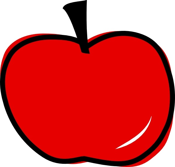 Red Apple clip art Free vector in Open office drawing svg.