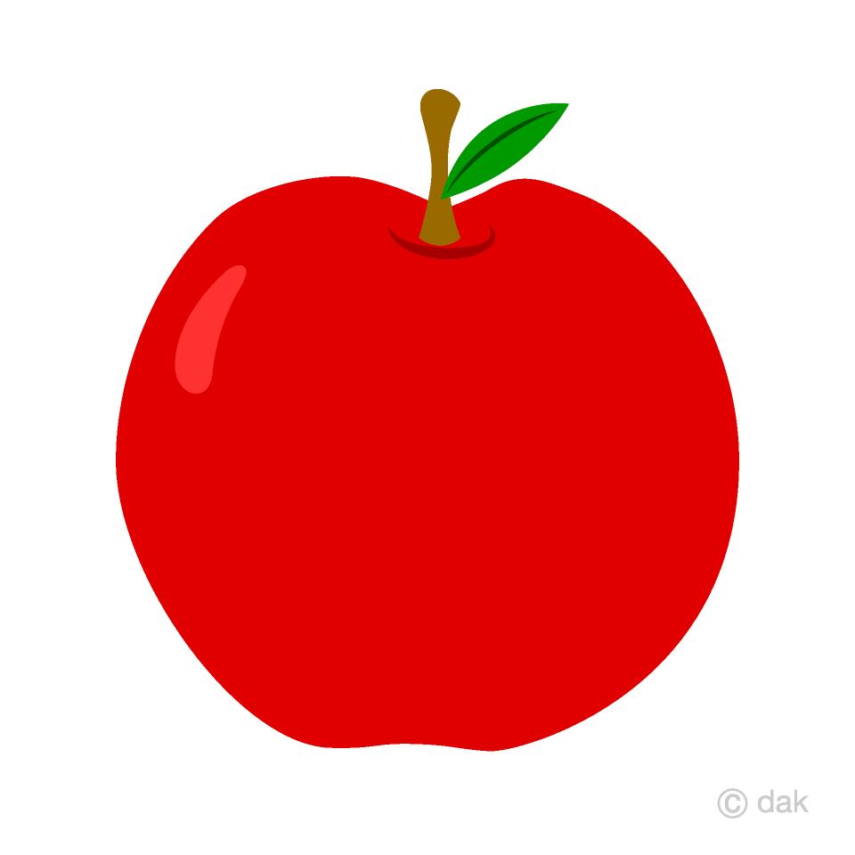 Free Simple Red Apple Clipart Image|Illustoon.