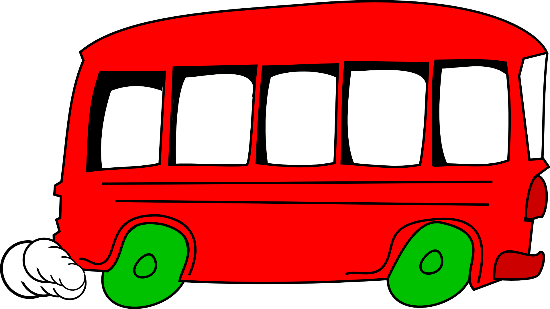 Red school bus clipart free image.