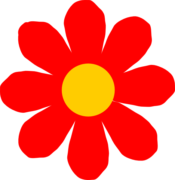Red Flower Clip Art at Clker.com.