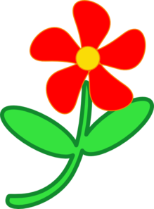 Red Flower Cute Clip Art at Clker.com.