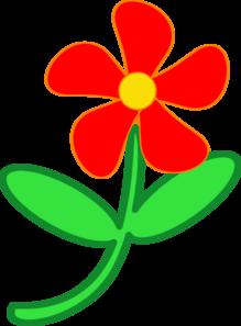 Red Flower Cute Clip Art at Clker.com.