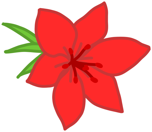 Red flower Clipart, vector clip art online, royalty free design.
