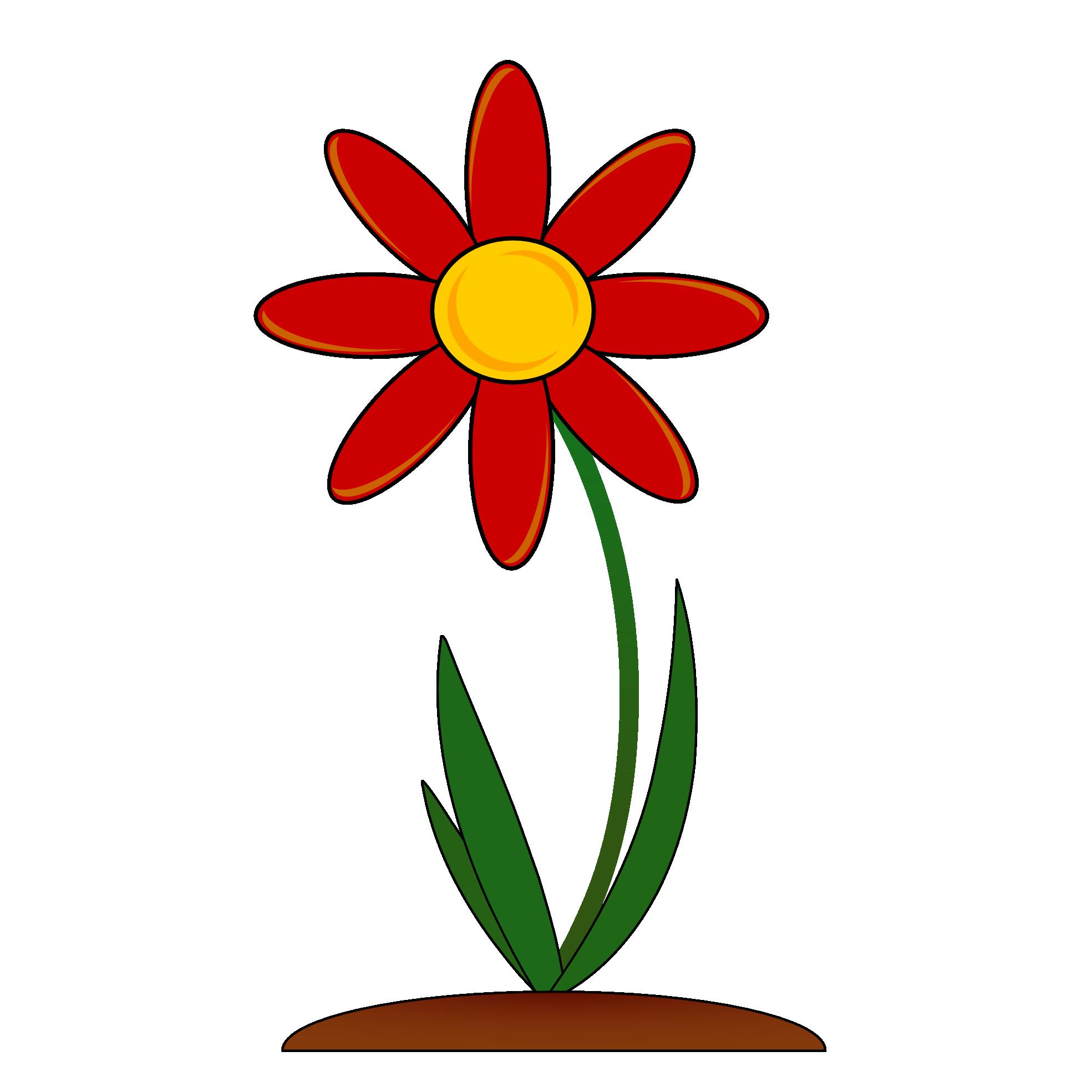 Red Flower Border Clip Art.