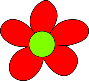 Clip art red flowers.