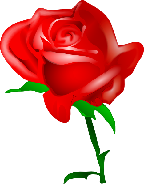 Dozen Red Roses Clipart.