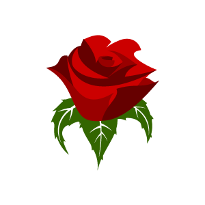 Free red rose clip art.