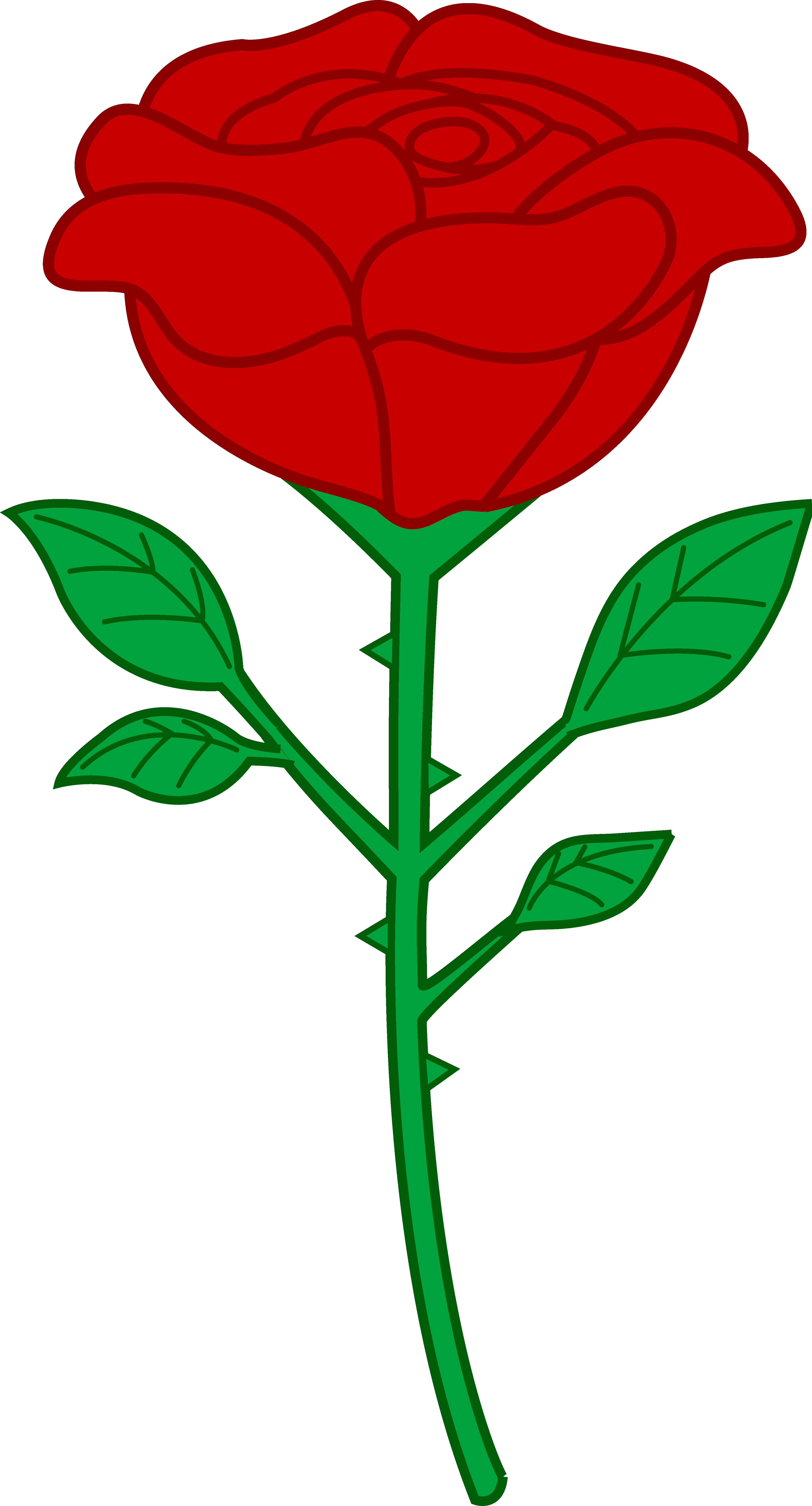 Single Red Rose Clip Art.