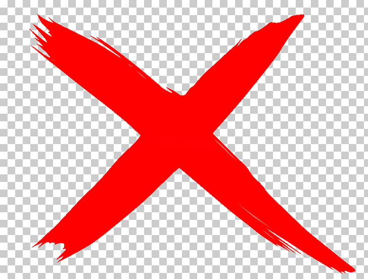 X mark Check mark , wrong sign, red X illustration PNG.