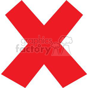 red x clipart. Royalty.