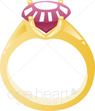 Ruby Ring Clipart.