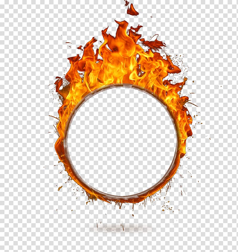 Ring of fire illustration, Fire Flame, A ring of fire.