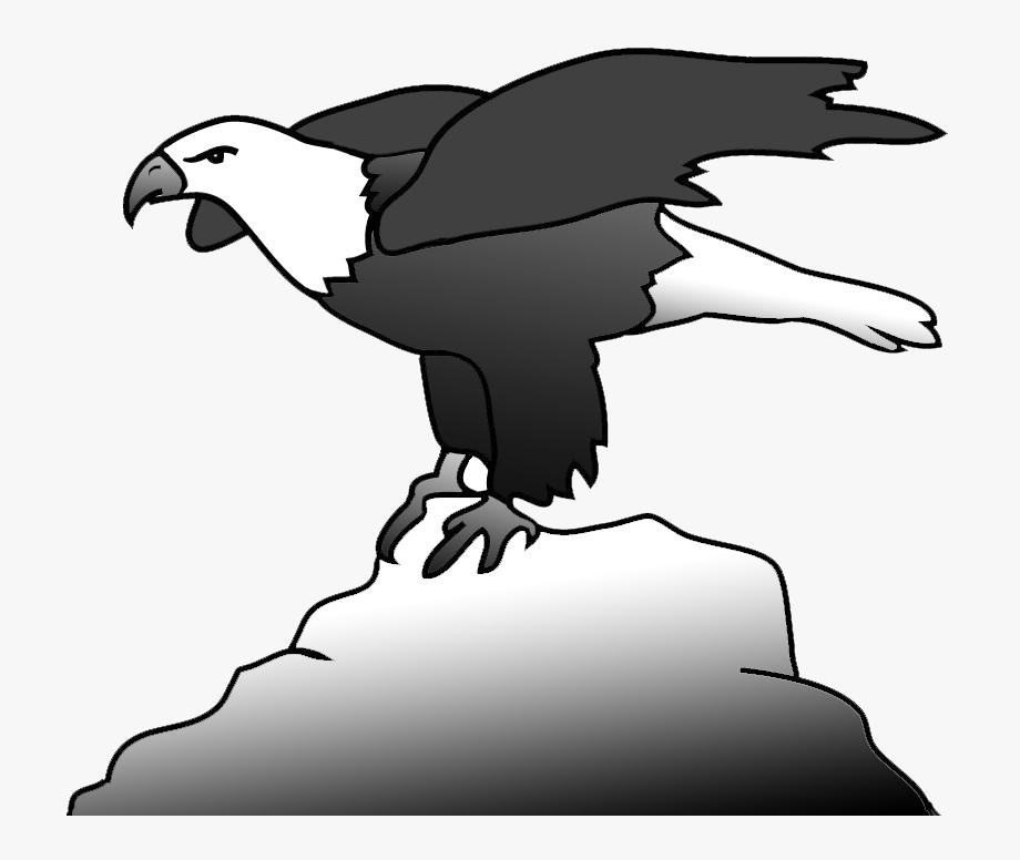 Bald Eagle Clipart, Bald Eagle On A Rock Clipart.