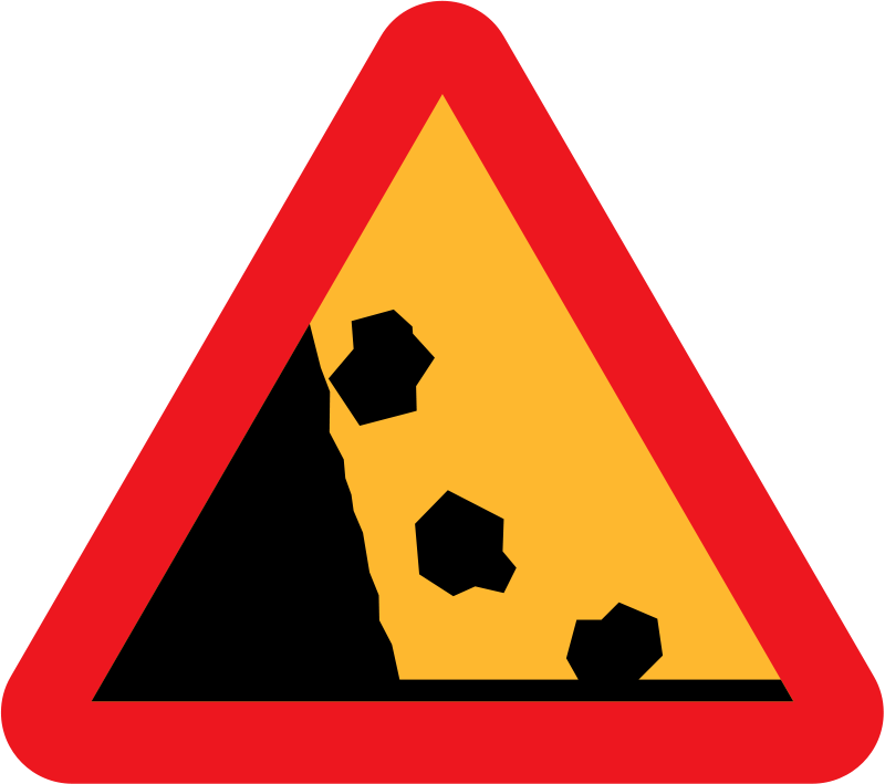 Free Clipart: Falling Rocks from the LHS roadsign.