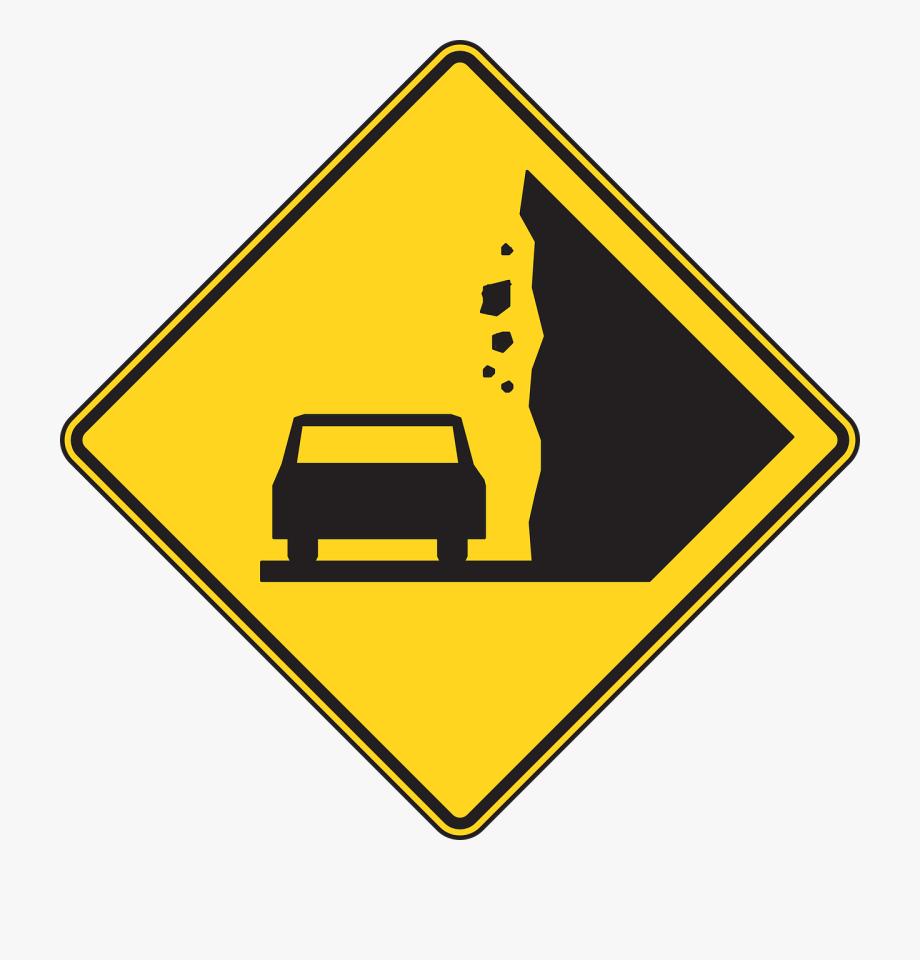 Falling Rocks Sign Clip Art.