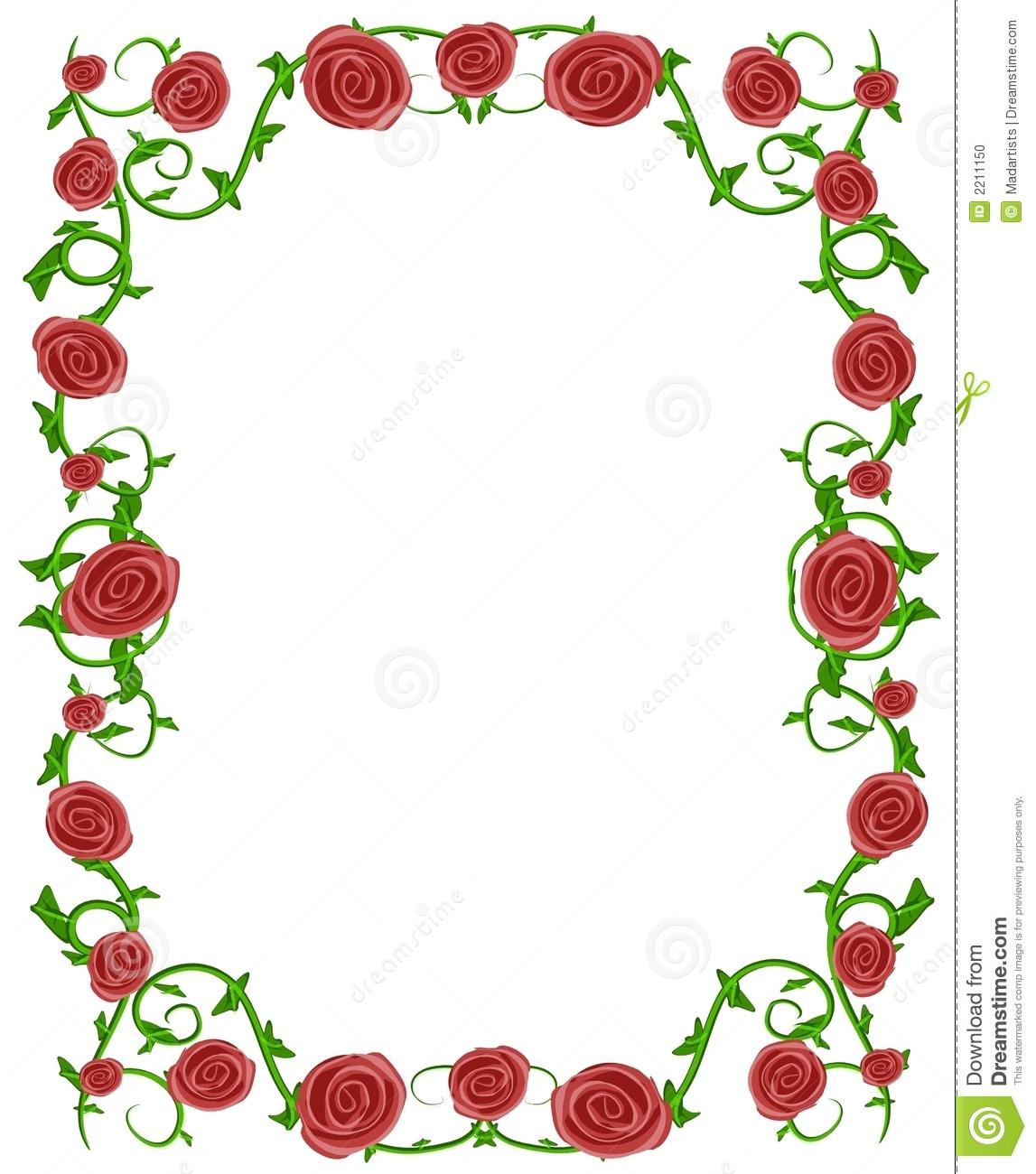Rose Frame Clipart.