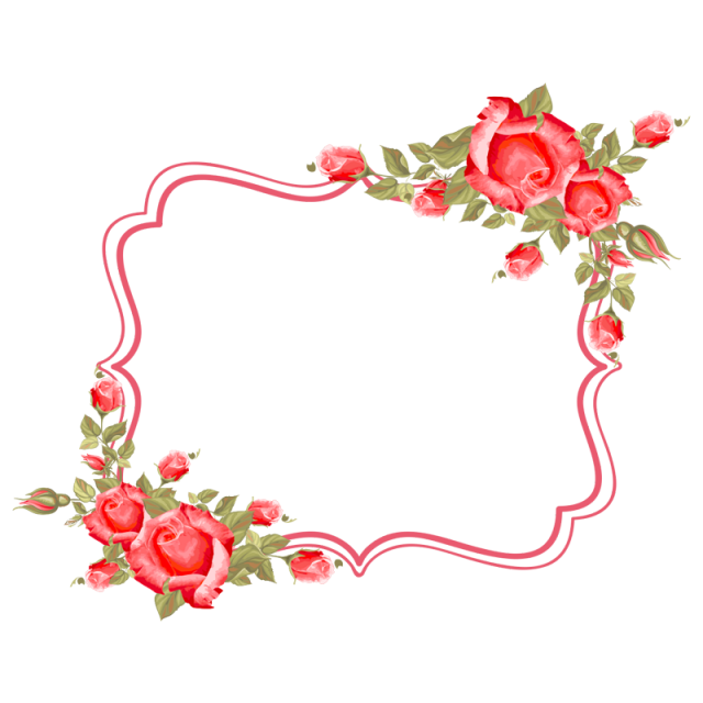 Frame Flower, Frame, Flower, Roses PNG and Vector with.
