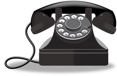 Telephone clipart rotary phone.