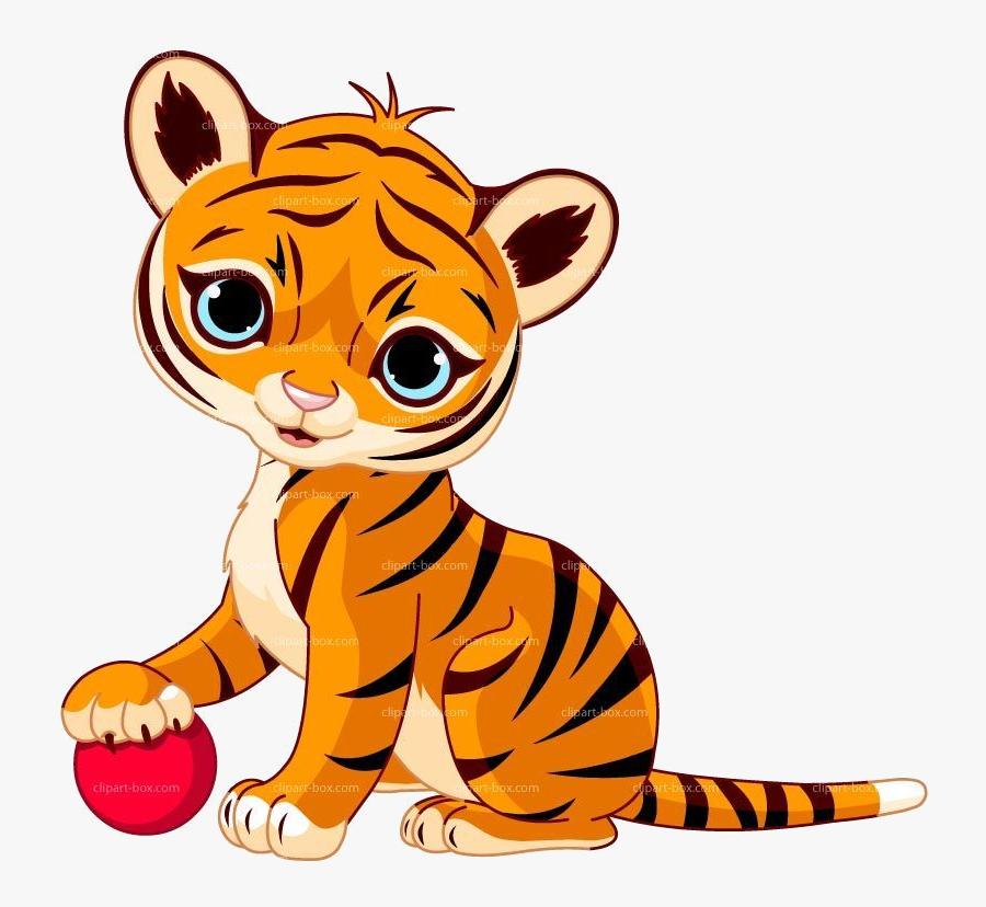Tiger Cute Clipart Transparent Png.