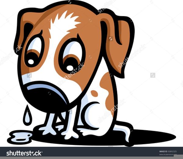 Sad Dog Face Clipart.