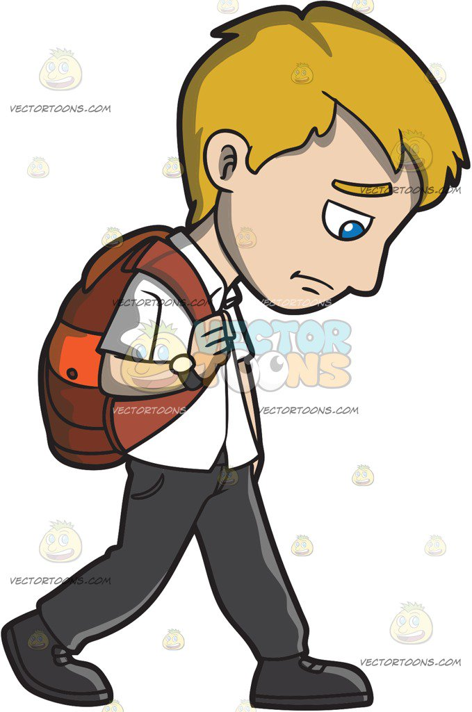 Gloomy Person Clipart.