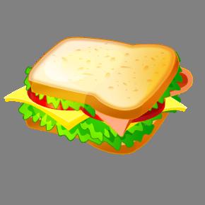 Clip art sandwich.
