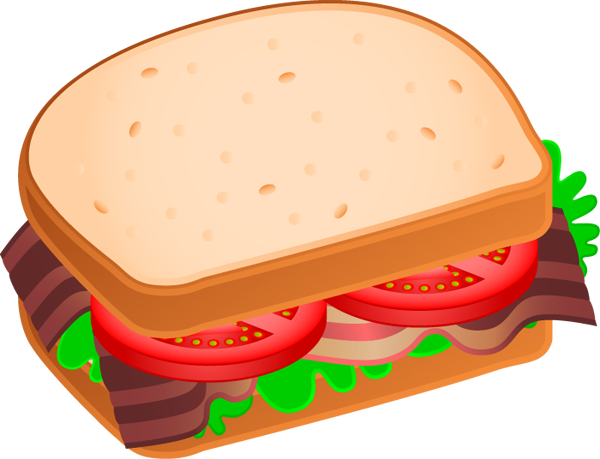 Sandwich Clip Art Black And White.