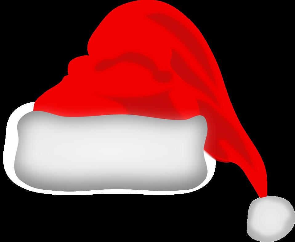 CHRISTMAS SANTA HAT CLIP ART.