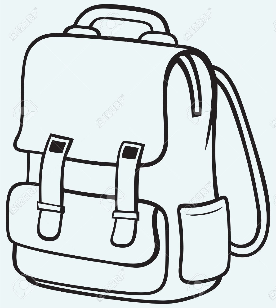 A School Bag Clipart.