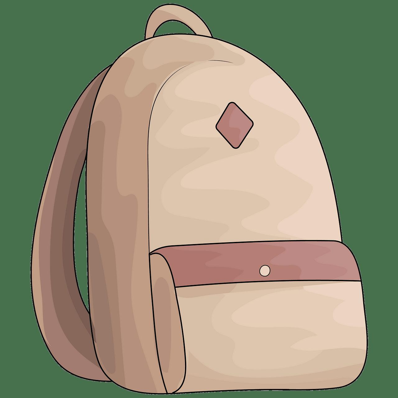 School bag clipart. Free download..