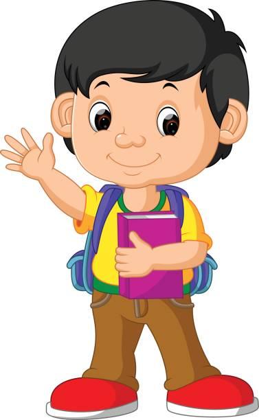 Boy In School Clipart.