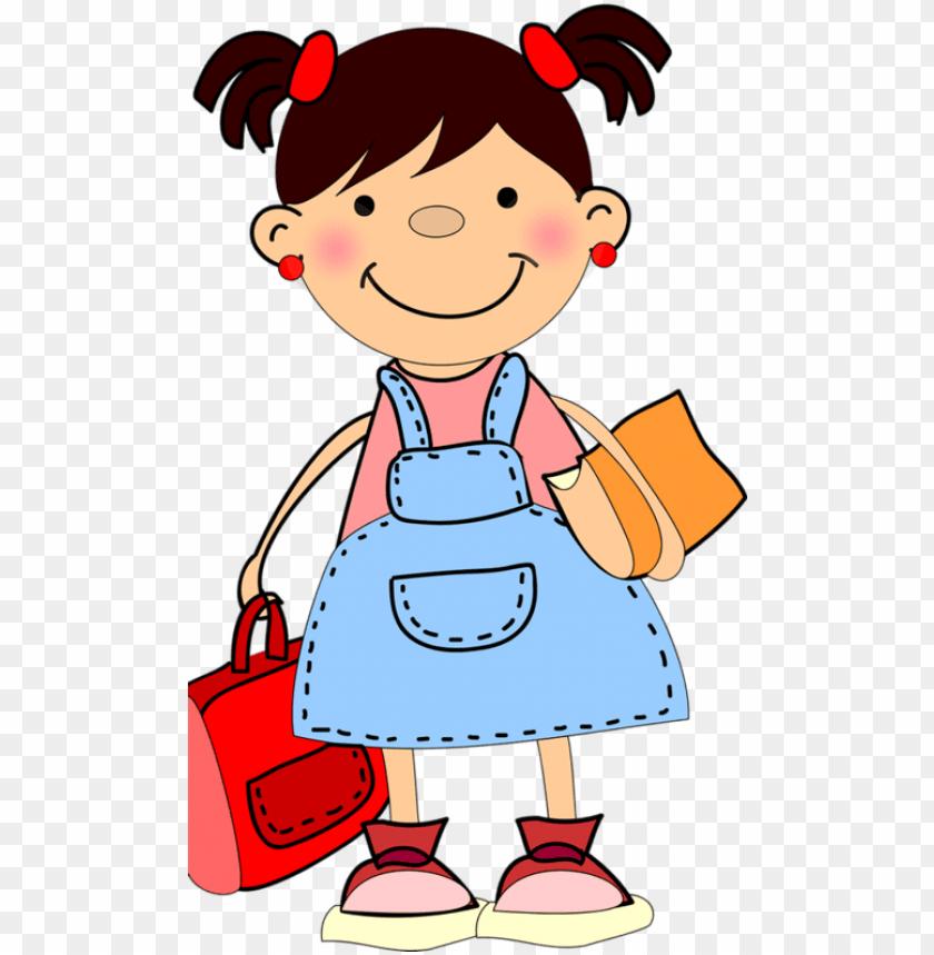 little girl clipart student.