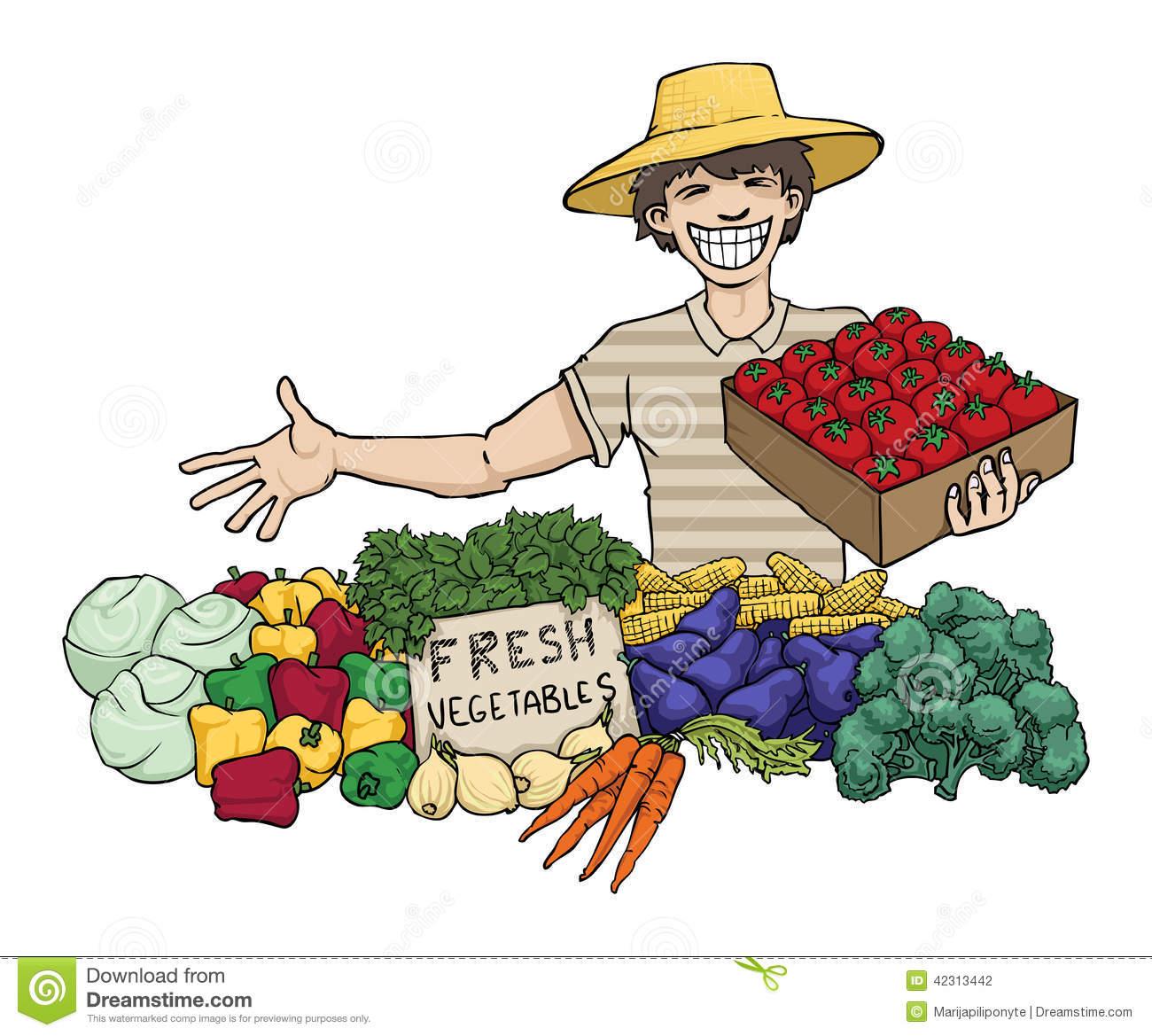 Vegetables Seller Clipart.