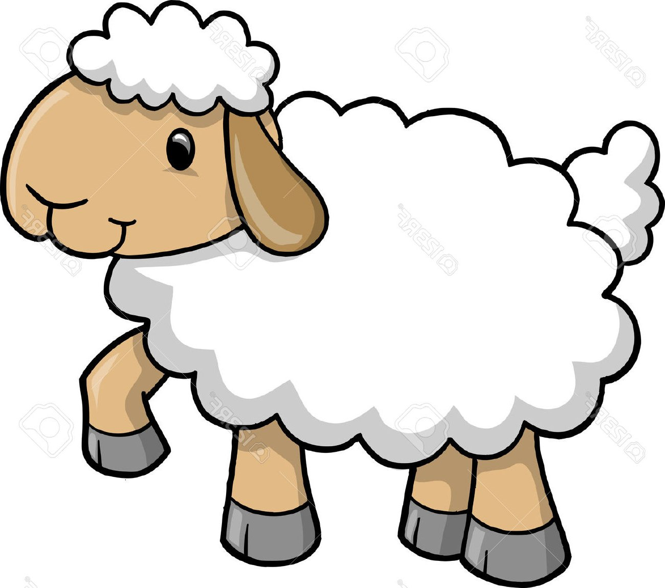 Clipart Of A Sheep.