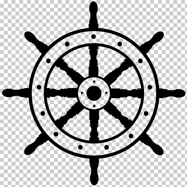 Ship\'s wheel Boat , steering wheel PNG clipart.