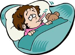 Child Sick Clipart.