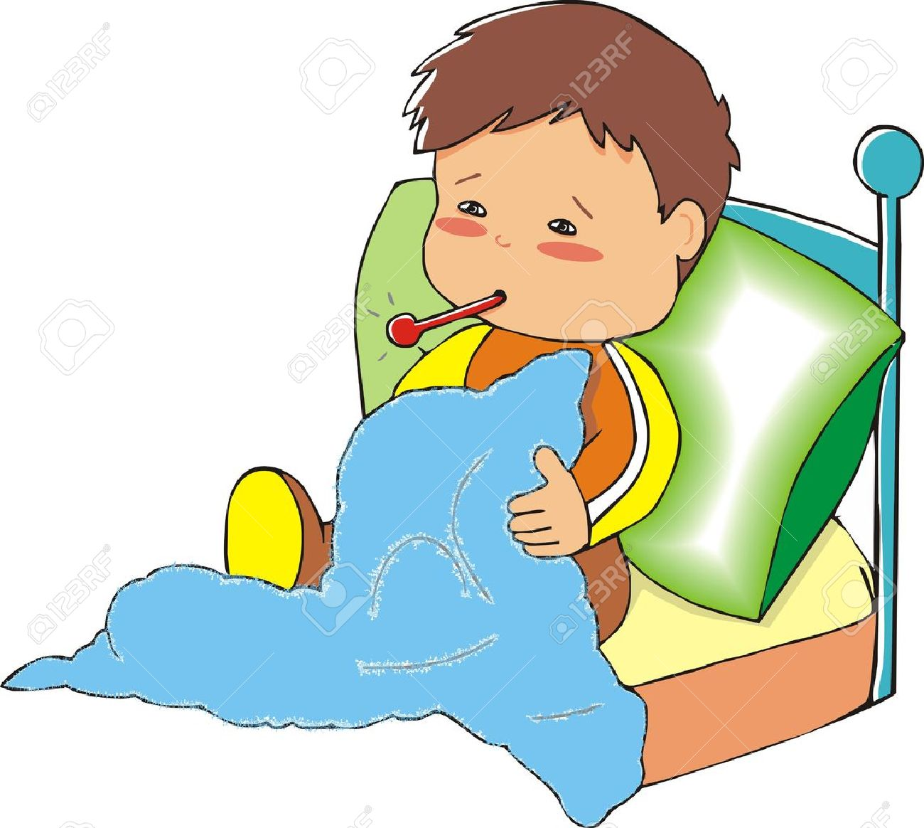 Sick child clipart 3 » Clipart Station.