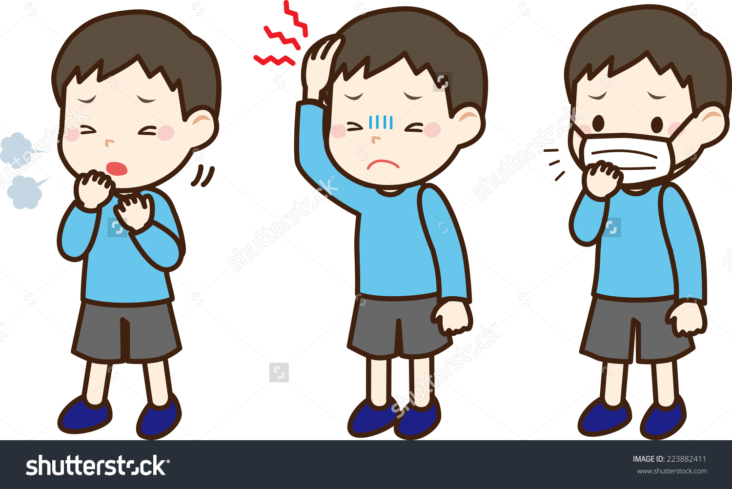 Kid Sick Clipart.